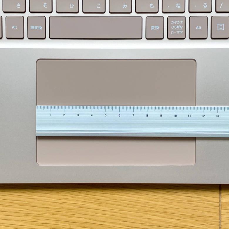 Surface Laptop 3のタッチパッドの横幅は約11.5cm