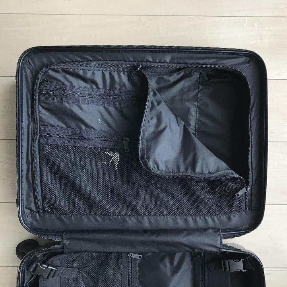 BRIEFING(ブリーフィング)スーツケースのラウンドジップ式中仕切り