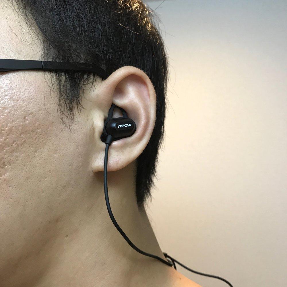 ワイヤレスイヤホンMpow S9の装着感