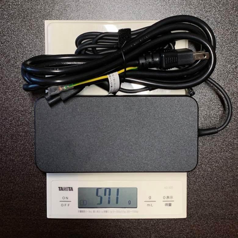 マウスDAIV-NG5510アダプターの重量