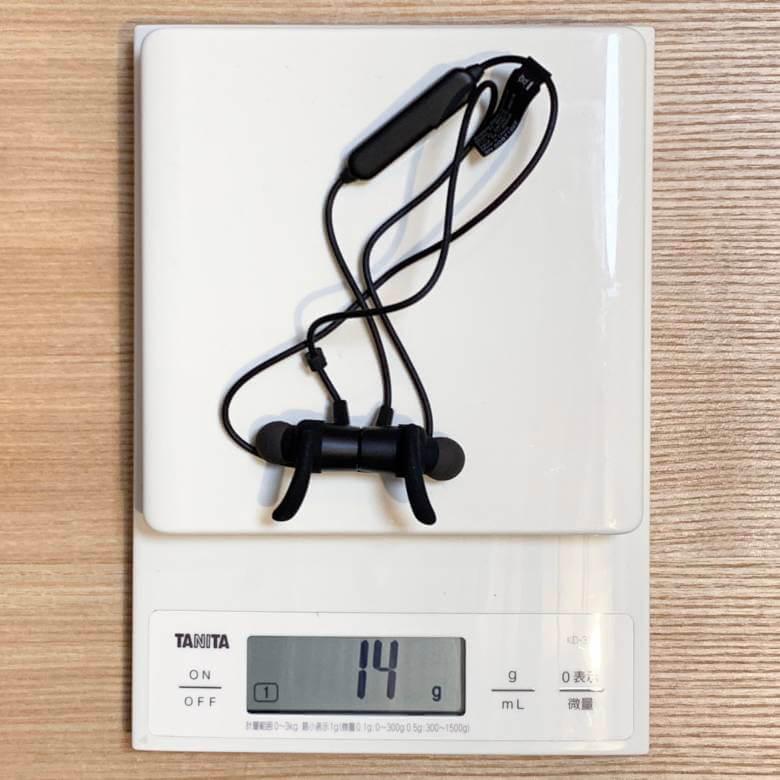 TaoTronics TT-BH072の重量