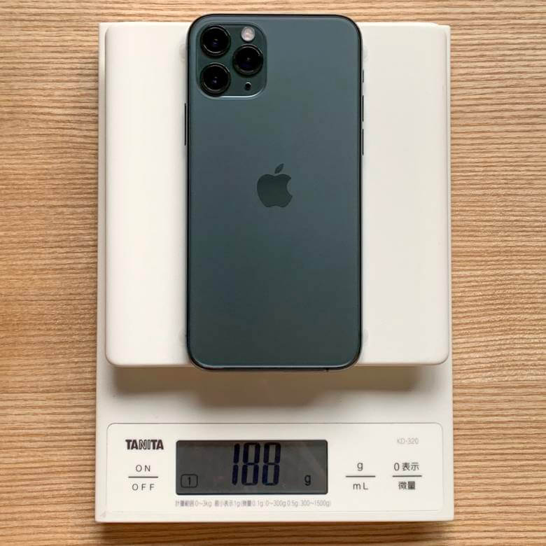 iPhone 11 Proの重さは約188g