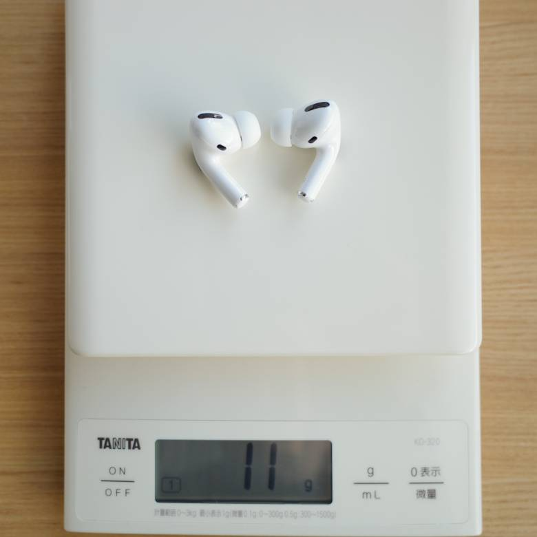 AirPods Proの重量は約11g